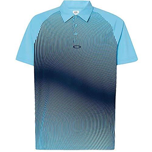 Oakley Hommes Protection Dynamique UV Respirant Polo de Golf - Aviator Bleu - L