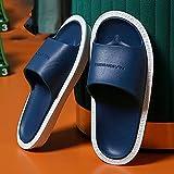 XZDNYDHGX Zapatillas De Casa SúPer Suaves para Mujeres/Hombres,Zapatos de Ducha Interior para el hogar de Verano para Mujer, Zapatos deslizantes para el hogar, Hombres, Azul Oscuro, EU 41-42