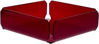 Agplex - Portatovaglioli in plexiglass rosso trasparente modello MUSA
