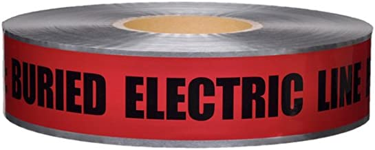 Swanson DETR21005 2-Inch by 1000-Feet 5-MIL Detectable Tape Caution with Buried Electric Line Below Red/Black Print
