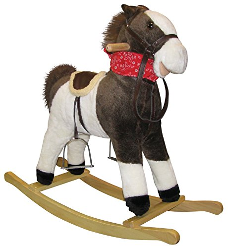 Best Bargain Charm Company Pinto Horse Rocker, Moving Mouth & Tail Ride On