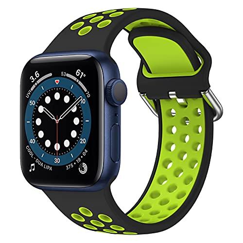 Syxinn Cinturino Compatibile per Apple Watch 38mm 40mm 42mm 44mm Cinturino Braccialetto di Silicone Fascia da Polso Cinturini per iWatch Series 6 5 4 3 2 1 SE