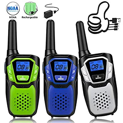 Topsung Walkie Talkies for Adult, Easy to Use Rechargeable Long Range Walky Talky Handheld Two Way Radio with NOAA for Hiking Camping by Topsung