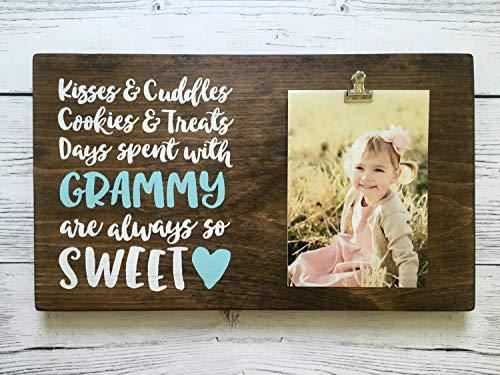 onbekend Wall Art houten bord met foto clip - geschenk voor oma/opa/grootouders - kussen & knuffels. - Naam aanpassen! Hout Plaque, Custom Gift