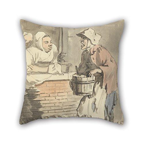 N\A Fundas de Almohada de Pintura al óleo Paul Sandby - London Gries- 'Cualquier Cosa de Cocina' El Mejor Ajuste para el sofá de la casa de café Teatro en casa Esposo GF Hijo Ambos Lados