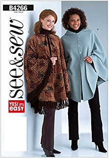 BUTTERICK PATTERNS B4266 Misses' Poncho, Size B (LRG-XLG)