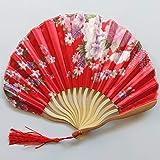 xiucai Abanico de novia estilo chino de mano para mujer, bambú plegable, de seda de bambú, regalo de cumpleaños, fiesta, decoración de boda, vintage, plegable, abanico de novia (color 03)