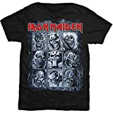 Iron Maiden Men's Nine Eddies T-Shirt, Black, X-Large