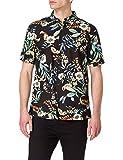 Superdry M4010353A Camisa Abotonada, Black Hawaiian, L para Hombre