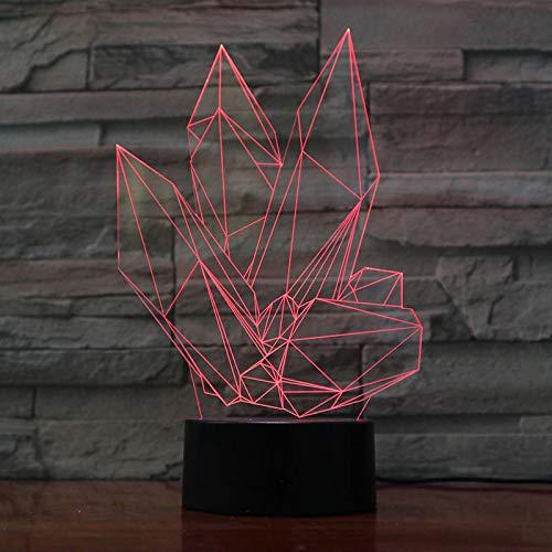 3D ilusión lámpara de escritorio lámpara para habitación infantil Perfume romano ideal como regalo de cumpleaños para niños, niños y hombres Con interfaz USB, cambio de color colorido