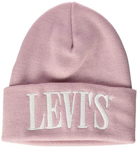 Levis Footwear and Accessories Damen Serif Logo D0 Beanie W Strickmütze, Pink (Rose 80), One Size (Herstellergröße: UN)