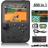 DigitCont Console de Jeu Portable, Retro FC Console de Jeux, avec 500 Classique Jeux FC, 3 Pouces écran Couleur, 1020mAh Rechargeable Battery Connection TV