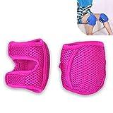 ベビー 膝当て、ベビークロール膝パッド滑り止め膝サポート調節可能な幼児膝安全プロテクター,ピンク,XL