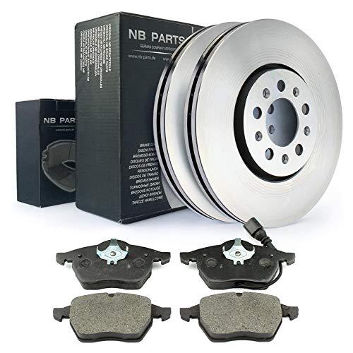 Nb Parts Germany 10038208 - Juego de frenos delanteros, discos de freno y pastillas de freno de 288 mm de diámetro