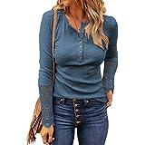 Simlu Women's Short Sleeve V-Neck Shirts Loose...