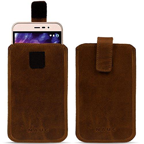 NAUC Medion Life E4504 E4503 Leder Tasche Sleeve Hülle Cover dunkel Braun Schutzhülle