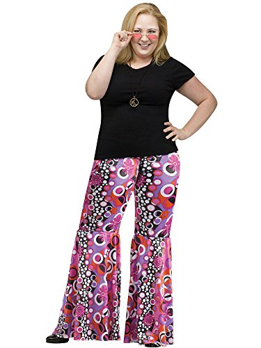 Flower Child Bell Bottoms Costume - Plus Size 1X - Dress Size 16-20