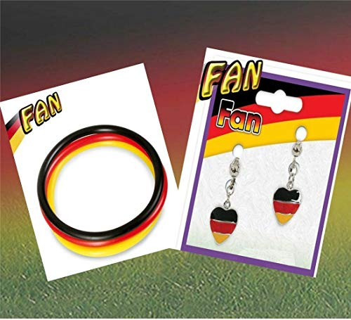 KarnevalsTeufel 2-TLG. Fußball Fan Set, Germany, EM, WM, Fanartikel, Deutschland