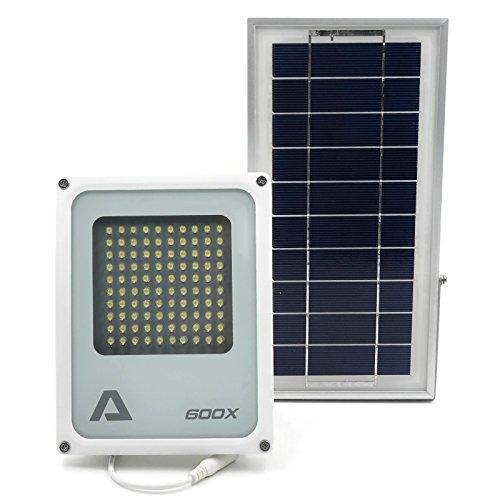 Lampada solare ALPHA 600X, 3 livelli di potenza e controllo della luminosità, batteria al litio, perfetta come lampada di sicurezza e per illuminare aree agricole, cortili, giardini di casa, capanni distanti, vicoli, beni pubblici contrassegnati da segnali di pericolo
