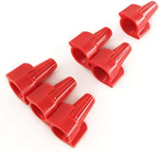 Red Winged Wire Nuts UL Listed Bulk 500 Pcs Easy Twist-on Electrical Wire Connectors,Spring Insert Ribbed Caps 18-8 AWG,HP13 Type Household Purpose