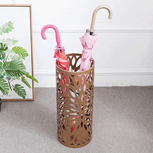 Renjun, portaombrelli in ferro battuto, in metallo artistico intagliato ombrello secchio per la casa, portaombrelli bianchi, nero, oro, 50 x 20 cm Oro