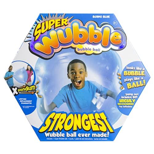 The Amazing SUPER Wubble Bubble Ball with Pump - Blue by WUBBLE