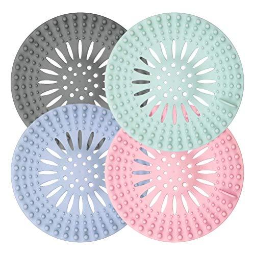 Tappi in silicone per lo scarico della doccia, filtro universale in gomma per vasca da bagno, cucina, bagno, tappi per capelli, confezione da 4
