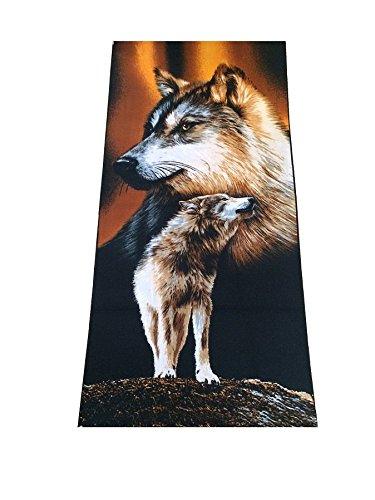 Markenlos Strandhandtuch Strandhandtücher Badetuch Handtuch Saunatuch 70x140 (Wolf 2)