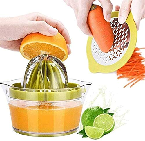 Lcb Juicer Mini juicer, simple manual squeezing household juicer with built-in measuring cup and chopper