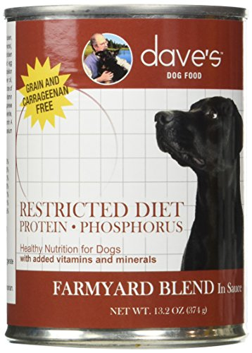 Dave's Pet Food Restricted Protein Diet Dog Food - Grain Free Chicken Dog Food - 13 Ounce Cans, Case of 12