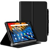 MoKo Hülle für Lenovo Yoga Smart Tab 10.1 (YT-X705F), PU Leder Tasche Schutzhülle Smart Hülle mit Standfunktion für Lenovo Yoga Smart Tab 10.1 (YT-X705F) Tablet - Schwarz