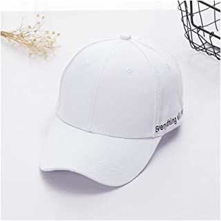 Hats Spring Sun Hat Unisex Outdoor Letter Baseball Cap Summer Personality Embroidered Duck Hat Fashion (Color : White, Size : F)