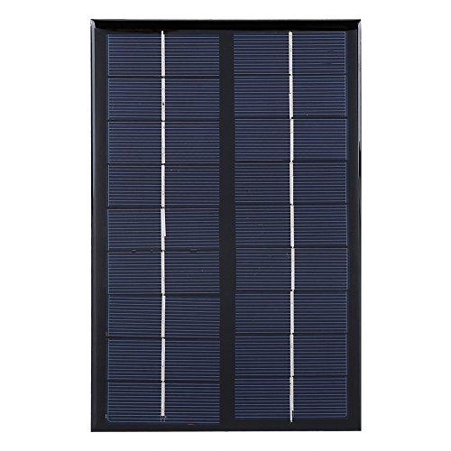 VIFER Solarpanel Tragbares 3W 9V Mini Polykristallines Solarpanel für DIY Solar Light Phone Batterieladegerät