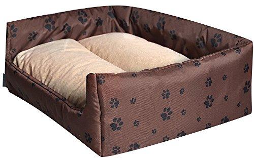 W33205perro cama Aruba Plus–S 50cm x 40cm–negro/rojo