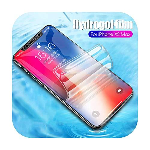9D Hydrogel Film for iPhone 6 S Plus XsMax XR Ultra-Thin Clear Film for for iPhone XS Max XR X 7 8 Plus 6 6s Screen Protection-for iPhone XS Max-Soft Hydrogel Film