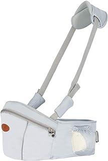 Baby Hip Seat Carrier Baby Waist Stool for Child Infant Toddler with Adjustable Strap Buckle Pocket Soft Inner Huge Storage (Grey)