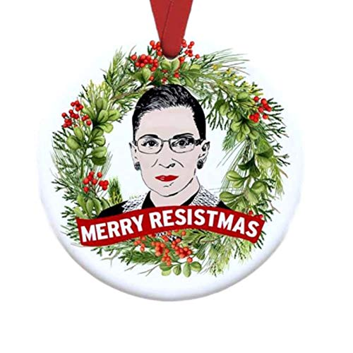 XIANLIAN RBG Ruth Bader Ginsburg Weihnachtsverzierung, RBG Ruth Bader Ginsburg Weihnachtsverzierung, die berüchtigte RBG Ruth Bader hängende Verzierung