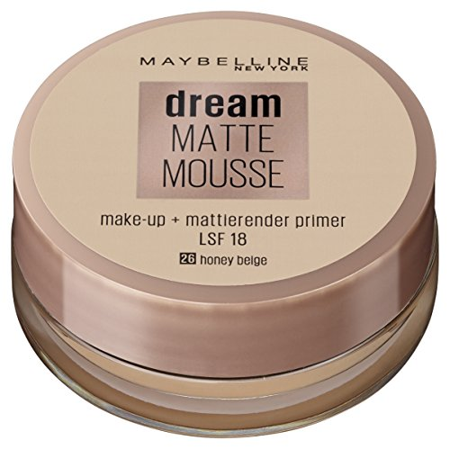 Maybelline New York Make Up, Dream Matte Mousse Make-Up, Mattierend, Nr. 26 Honey Beige