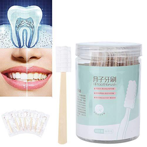 30pcs Mini-Einweg-Zahnbürste keine Zahnpasta benötigt tragbare weiche Mundpflege für Kinder, Alter, Mutterschaft, Reisen(Minze)