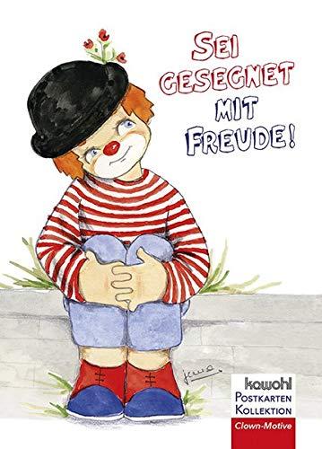 Sei gesegnet mit Freude!: Postkartenbuch mit Clownmotiven