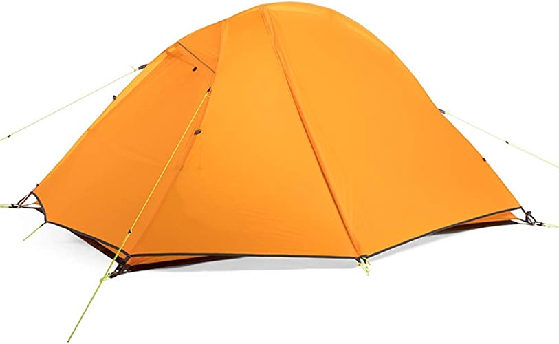 Lxc Refuge d'ombre Tente De Camping Orange Outdoor 2 Personnes Production Sauvage Rainstorm Tente De Camping Double Tente Equitation Facile à Porter