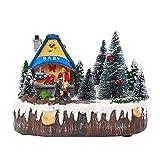 GDYJP decoración navideña Cabina de rotación del árbol de Navidad Que Brilla Luminoso de música House Music Escena de la Nieve for día la Amiga de San Valentín romántico (Color : A)
