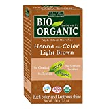 Indus Valley Bio OrganicHenna Hair Dye Color For Grey Hair (Light Brown)- (100...