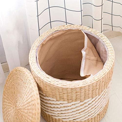 Tabouret Bas Repose-pieds Tissés À La Main Lavable Grand Espace De Stockage Tabouret Simple mwsoz (Taille : W29xH33cm)