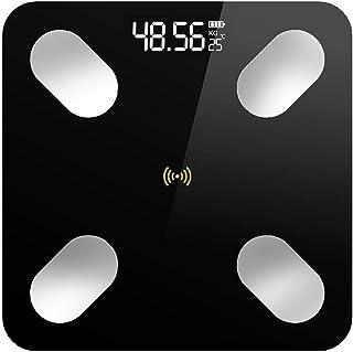 HJTLK Báscula Digital de baño, Báscula de baño Inteligente para baño, aplicación Bluetooth Báscula Digital electrónica de Peso, Báscula de Equilibrio Corporal, Báscula, 180 kg