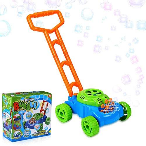 FXQIN Bubble Machine Cortacésped Burbujas de jabón, Funciona con Pilas, Máquina de Burbujas Rana automática Maquina De Hacer Pompas De Jabon para niños a Partir de 3 años