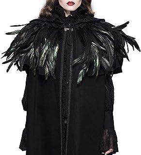 CNNIK Scialle di Piume Nero, Accessori Costume Gatsby Anni 1920 Scialle di Halloween