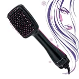 Hair Dryer And Styler for Straightening, 2020 Upgraded 3-IN-1 Hair Dryer Brush for Fast Drying Straightening, Negative Ion Ceramic Electric Blow Dryer