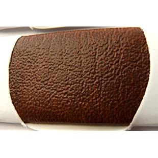 BROWN FAUX LEATHER LEATHERETTE MATERIAL HEAVY FEEL PVC VINYL UPHOLSTERY FABRIC PER 1 METRE X 140CM