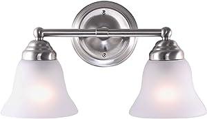 7Pandas Artistic Modern Wall Lamp with Flush Mount,Design Modern Home Light Fixture-2 Lights in Frosted Glass